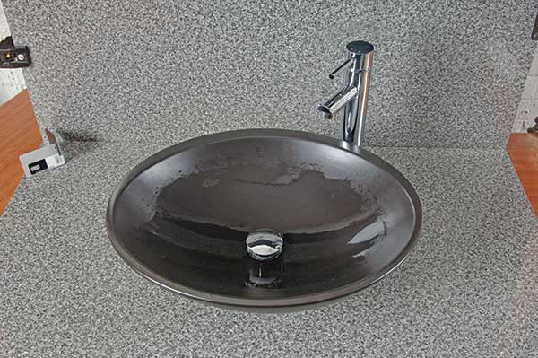 shiny clean sink